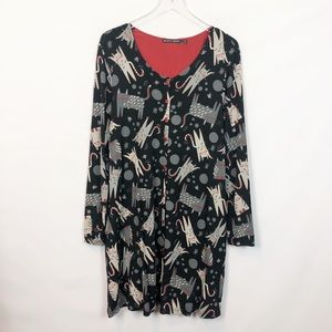 Gudrun Sjoden Top Cats Printed Tunic Large